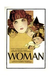WOMAN, 1918, poster art Poster