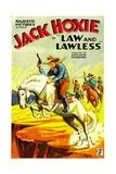 LAW AND LAWLESS, Jack Hoxie, 1932. Prints