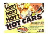 HOT CARS, top center: Joi Lansing on poster art, 1956 Posters