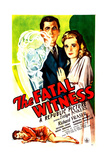 THE FATAL WITNESS, US poster, top center from left: Richard Fraser, Evelyn Ankers, 1945 Posters