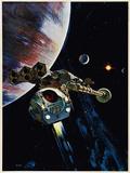 2001: A SPACE ODYSSEY, US poster, 1968 - Reprodüksiyon
