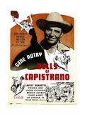 BELLS OF CAPISTRANO, Gene Autry on window card, 1942 Prints