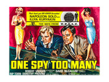 ONE SPY TOO MANY, l-r: David McCallum, Robert Vaughn on poster art, 1966. Posters