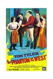 THE PHANTOM OF THE WEST, center: Tom Tyler in 'Chapter 5: The League of the Lawless', 1931. Poster