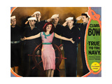TRUE TO THE NAVY, front: Clara Bow on lobbycard, 1930 Poster