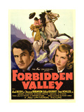 FORBIDDEN VALLEY, bottom from left: Noah Beery Jr., Frances Robinson on midget window card, 1938. Prints