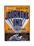 JOURNEY'S END, window card, 1930. Posters