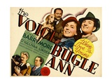 THE VOICE OF BUGLE ANN, top from left: Lionel Barrymore, Maureen O'Sullivan, Eric Linden, 1936 Prints