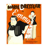 EMMA, left: Marie Dressler on window card, 1932. Posters
