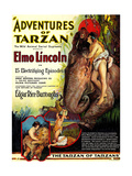ADVENTURES OF TARZAN, Elmo Lincoln as 'Tarzan', 1921 Kunstdrucke