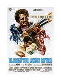 SLAUGHTER, (aka SLAUGHTER UOMO MITRA), Italian poster, Jim Brown, Stella Stevens, 1972 Art