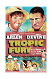 TROPIC FURY, US poster, top left: Andy Devine, Richard Arlen, 1939 Poster
