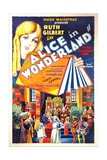 ALICE IN WONDERLAND, US poster art, top: Ruth Gilbert as Alice, 1931 Print