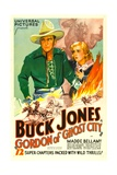 GORDON OF GHOST CITY, Buck Jones, Madge Bellamy, 1933 Print