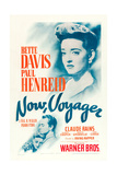 NOW, VOYAGER, Bette Davis, Paul Henreid, 1942, poster art Art