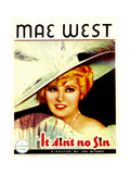 BELLE OF THE NINETIES, (aka IT AIN'T NO SIN), Mae West, 1934. Poster