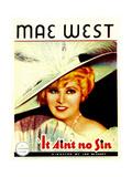 BELLE OF THE NINETIES, (aka IT AIN'T NO SIN), Mae West, 1934. Posters