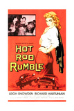 HOT ROD RUMBLE, right: Leigh Snowden, 1957. Art