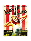 MONTE CARLO, Jeanette Macdonald on window card, 1930. Posters