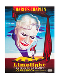 LIMELIGHT (aka LIMELIGHT LES FEUX DE LA RAMPE), French poster art, Charles Chaplin, 1952 Prints
