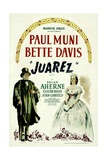 JUAREZ, Paul Muni, Bette Davis, 1939 Poster