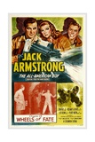JACK ARMSTRONG, ALL AMERICAN BOY, top left: John Hart, in 'Chapter 13: Wheels of Fate', 1940. Print