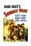 SUNSET PASS, 1933. Print