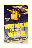 WOMEN IN THE WIND, midget window card, 1939. Prints