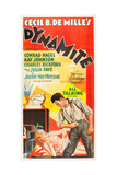 DYNAMITE, l-r: Kay Johnson, Conrad Nagel on US poster art, 1929 Prints