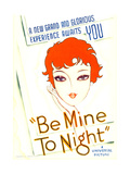 BE MINE TONIGHT (aka TELL ME TONIGHT), midget window card, 1932. Poster