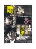 8 1/2, French poster, Marcello Mastroianni, 1963 Posters