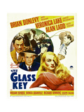 THE GLASS KEY, Brian Donlevy, Alan Ladd, William Bendix, Veronica Lake, 1942 Prints