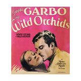 WILD ORCHIDS, l-r: Greta Garbo, Lewis Stone on window card, 1929. Posters