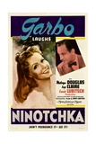 NINOTCHKA, from left: Greta Garbo, Melvyn Douglas, 1939. Posters