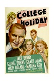 COLLEGE HOLIDAY, from left: Mary Boland, Jack Benny, Gracie Allen, George Burns, Martha Raye, 1936 Posters