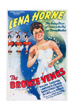 THE BRONZE VENUS (aka THE DUKE IS TOPS), Lena Horne on 1943 poster art, 1938. Posters