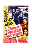 DANGER! WOMEN AT WORK, US poster, middle right: Patsy Kelly, Mary Brian, 1943 Art