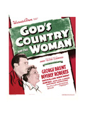GOD'S COUNTRY AND THE WOMAN, from left: George Brent, Beverly Roberts on window card, 1937 Prints