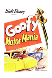 MOTOR MANIA, top right: Goofy, 1950. Poster