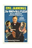 THE WAY OF ALL FLESH, center: Emil Jannings, 1927. Prints