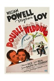 DOUBLE WEDDING, from left: William Powell, Myrna Loy, 1937 Art