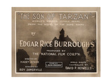 THE SON OF TARZAN, title lobbycard, 1920 Art