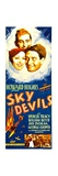 SKY DEVILS, from left: Ann Dvorak, William Boyd, Spencer Tracy on insert poster, 1933. Print