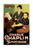 SUNNYSIDE, Charlie Chaplin (standing), Edna Purviance, 1919 Prints