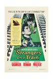 STRANGERS ON A TRAIN, Farley Granger, Robert Walker, Ruth Roman, 1951 Affiches