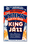 KING OF JAZZ, left: Paul Whiteman on window card, 1930. Prints