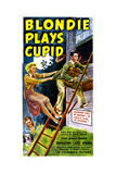 BLONDIE PLAYS CUPID, US poster, from top: Arthur Lake, Penny Singleton, Larry Simms, Daisy, 1940. Prints
