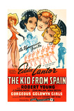 THE KID FROM SPAIN, US 1944 reissue poster art, Eddie Cantor (bottom right, in matador suit), 1932 Prints