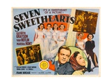 SEVEN SWEETHEARTS, bottom inset from left: Van Heflin, Kathryn Grayson, 1942. Poster