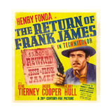 THE RETURN OF FRANK JAMES Posters